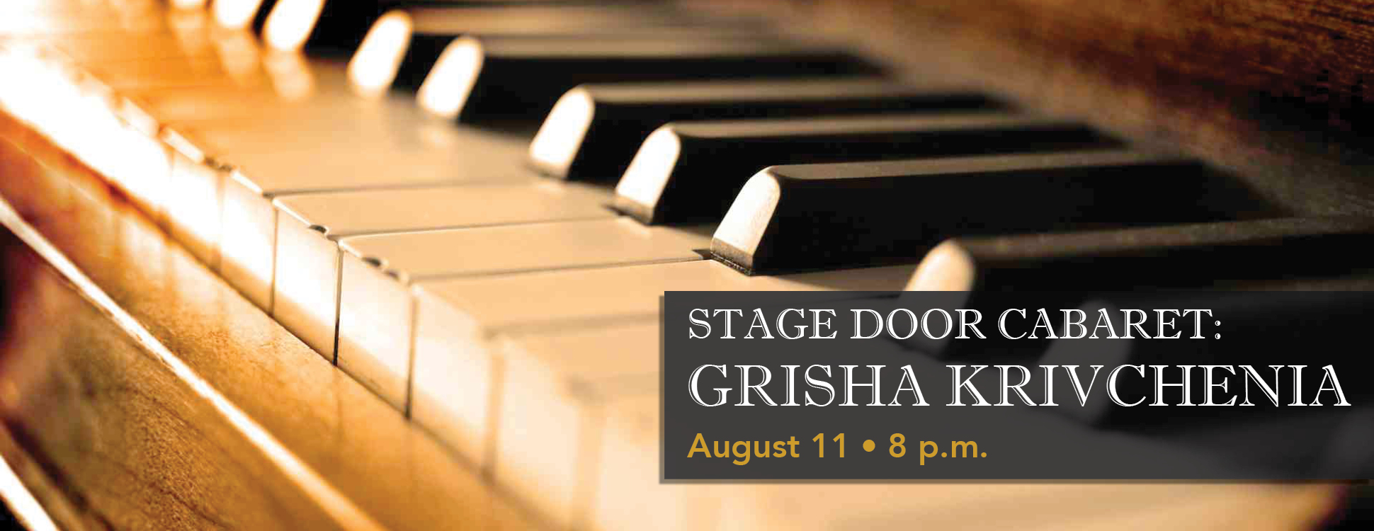 Stage Door Cabaret: Grisha Krivchenia